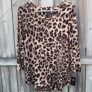 Leopard Print Top New With Tags
